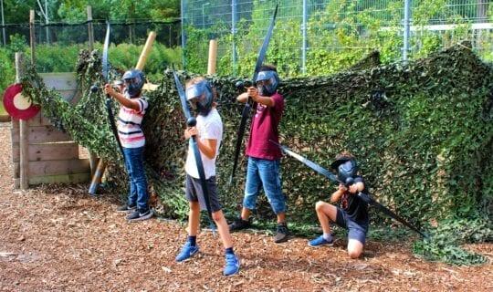 Herfstvakantie kamp amsterdam archery tag spelen
